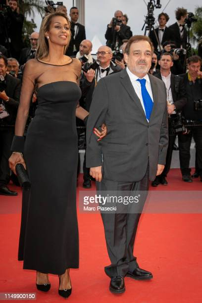 MarieSandra Badini Duran and Didier Bourdon attend the screening of Pain And Glory during the 72nd annual Cannes Film Festival on May 17 2019 in...