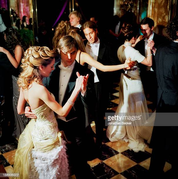 MarieSolene d'Harcourt and Svend Andersen are photographed for Vanity Fair Magazine on November 24 2007 at the Crillon Debutante Ball at the Hotel de...