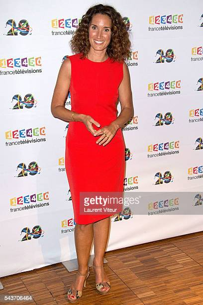 MarieSophie Lacarrau attend the 'Rendezvous du 29' Photocall at France Television on June 29 2016 in Paris France