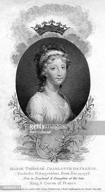 MarieThereseCharlotte de Bourbon Duchess of Angouleme and Dauphine of France 1811 The eldest child of King Louis XVI of France and Queen Marie...