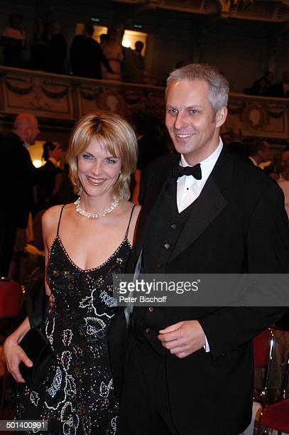 "Marietta Slomka , Ehemann Christof Lang , 1. Dresdner ""Semper-Opernball"", ""Semper Oper"", Dresden, Sachsen, Deutschland, Europa, Ehefrau, Promi, BB,..."
