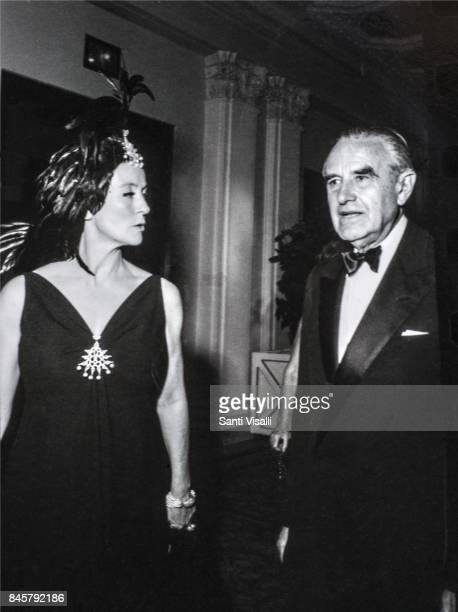 Marietta Tree with Averell Harriman at Truman Capote BW Ball on November 28 1966 in New York New York