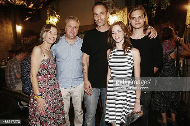 Mariette Rissenbeek a guest Akiz Carolyn Genzkow and Wilson Gonzalez Ochsenknecht attend the German Films Reception at Osteria Chiara during the 68th...