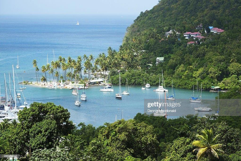 Marigot Bay, St. Lucia, Caribbean Island : Stock Photo
