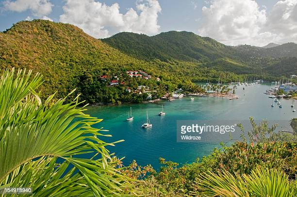 marigot bay, st. lucia - st. lucia stock pictures, royalty-free photos & images