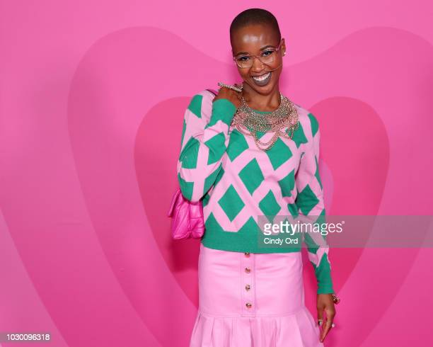 Marija Abney attends the ESCADA SS19 show at the Park Avenue Armory on September 9 2018 in New York City