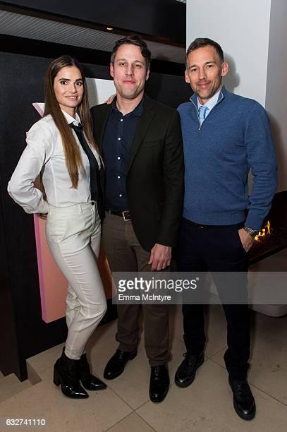 Marija Karan ALAC founder and director Tim Fleming and Joel Lubin attend 'Art Los Angeles Contemporary host committee members and collectors Joel...