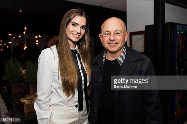 Marija Karan and Sam Schwartz attend 'Art Los Angeles Contemporary host committee members and collectors Joel Lubin and wife Marija Karan host ALAC...