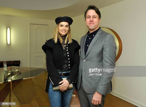 Marija Karan and Tim Fleming attend Art Los Angeles contemporary exhibitors party at Casa Perfect Housed in the Former Estate of Elvis Presley on...