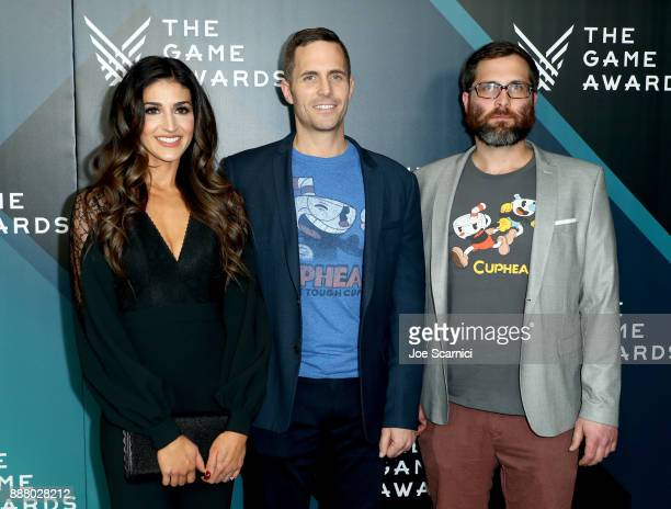 Marija Moldenhauer Chad Moldenhauer and Jared Moldenhauer creators of Cuphead and nominees of the 'Best Debut Indie Game Presented by Schick Hydro'...