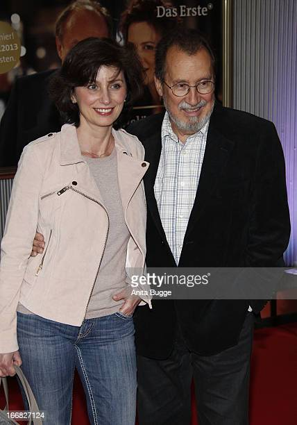 Marijam Agischewa and Georg Alexander attend the 'Die Ausloeschung' premiere at Astor Film Lounge on April 17 2013 in Berlin Germany