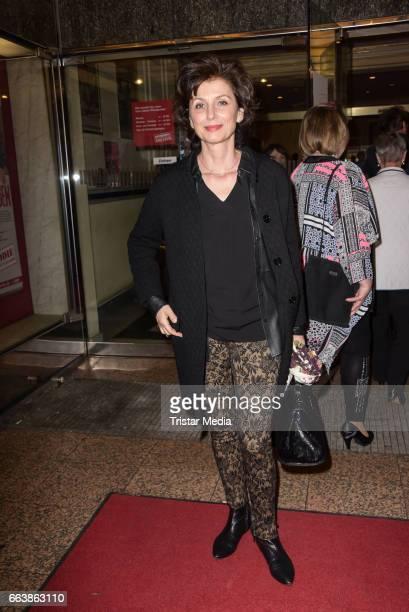 Marijam Agischewa attends the 'Aufguss' Premiere at Theatre Kurfuerstendamm on April 2 2017 in Berlin Germany