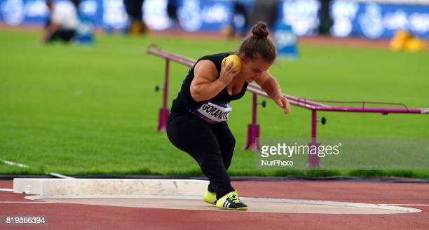Marijana Goranovic compete Women's Shot Put F41 Final during World Para Athletics Championships at London Stadium in London on July 19 2017
