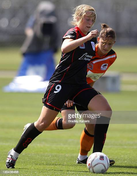 Marijana Rajcic of United in action during the round eight WLeague match between the Brisbane Roar and Adelaide United at Stockland Park on December...