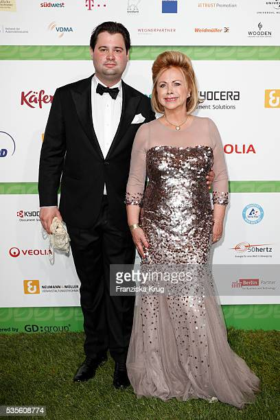 Marijke Amado and her son Kia Amado attends the Green Tec Award at ICM Munich on May 29 2016 in Munich Germany