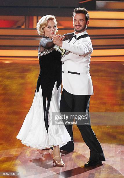 Marijke Amado and Stefano Terrazzino attend the Let's Dance Final at Coloneum on May 31 2013 in Cologne Germany
