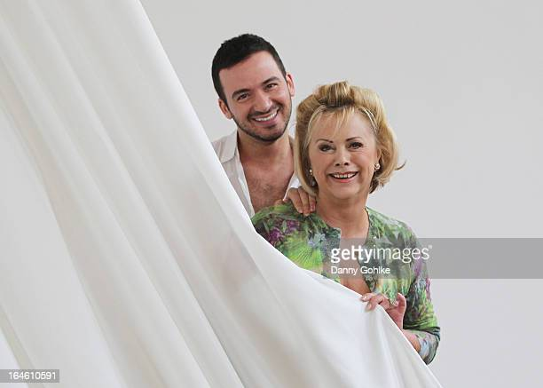 Marijke Amado and Stefano Terrazzino pose at a photo call for the sixth season on Germany's RTL network competition 'Let's Dance' on March 25 2013 in...