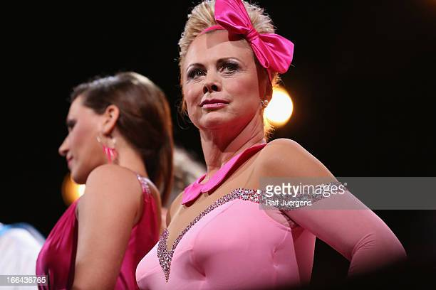 Marijke Amado attends the 2nd Show of 'Let's Dance' on RTL on April 12 2013 in Cologne Germany