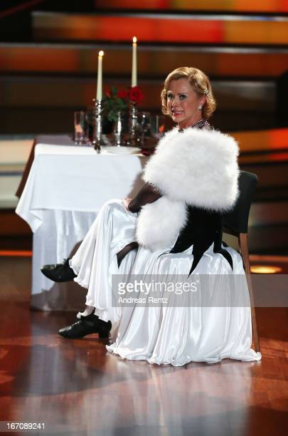Marijke Amado performs during the 3rd Show of 'Let's Dance' on the German RTL network on April 19 2013 in Cologne Germany