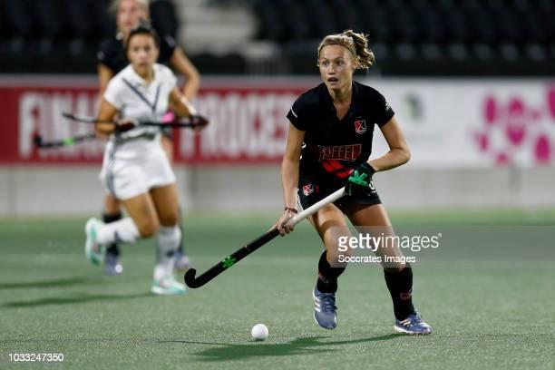 Marijn Veen of Amsterdam Dames 1 during the Hoofdklasse Women match between Amsterdam v Pinoke at the Wagener Stadium on September 14 2018 in...