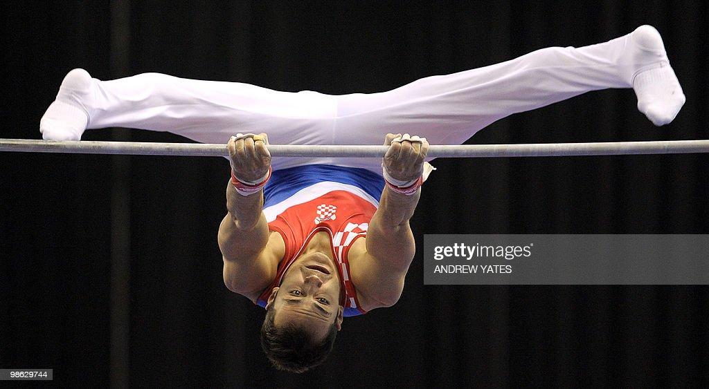 Marijo Moznik of Croatia performs on the : Nieuwsfoto's