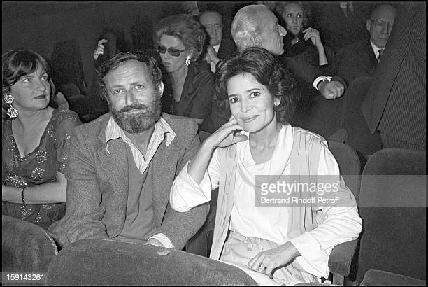 MariJose Nat and husband Michel Drach at the theater for the play Il Fait Beau Jour Et Nuit in Paris