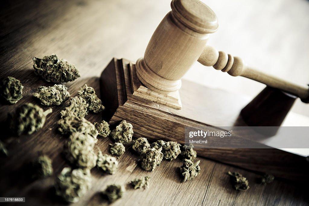 Marijuana and criminallity : Stock Photo