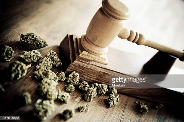marijuana and criminallity - crime or recreational drug or prison or legal trial bildbanksfoton och bilder
