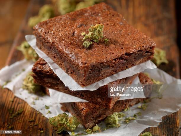 marijuana brownies - marijuana stock pictures, royalty-free photos & images