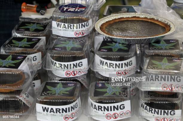 Marijuana cakes are sold during the first Cannabis Cup where selfcultivation and the quality of the herb are encouraged in Tlajomulco de Zuniga...