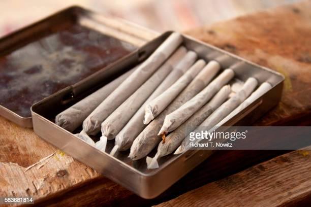 marijuana cigarettes - marijuana joint stock pictures, royalty-free photos & images