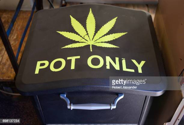 A marijuana disposal bin at the AspenPitkin County Airport in Aspen Colorado gives travelers an opportunity to get rid of their legal marijuana...
