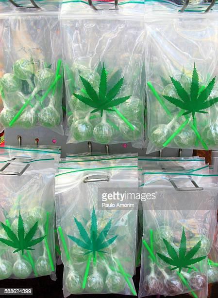 Marijuana lollipops in Amsterdam