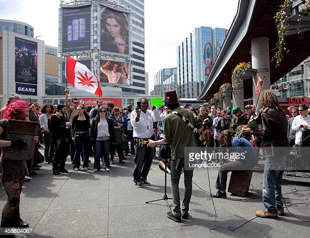 marijuana rally in toronto - legalization stock pictures, royalty-free photos & images