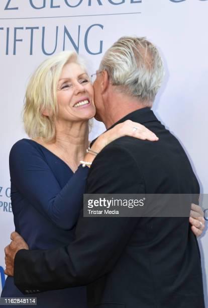 Marika George and Klaus J. Behrendt attend the Goetz George Award at Astor Film Lounge on August 19, 2019 in Berlin, Germany.