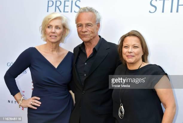 Marika George, Klaus J. Behrendt and Tanja George attend the Goetz George Award at Astor Film Lounge on August 19, 2019 in Berlin, Germany.