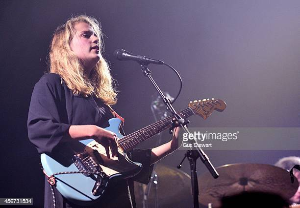Marika Hackman performs on stage at Alexandra Palace on September 24 2014 in London United Kingdom