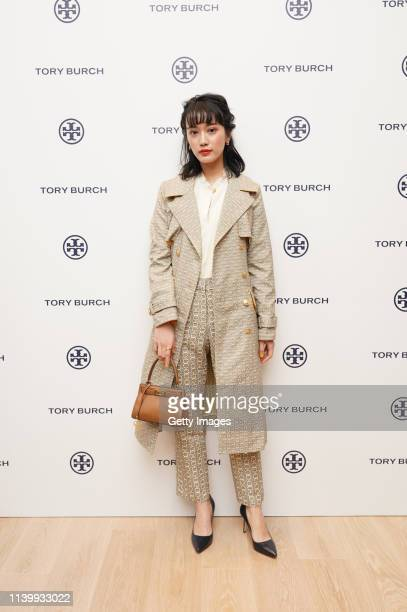 Marika Kai attends the Tory Burch Ginza Boutique Opening on April 02 2019 in Tokyo Japan