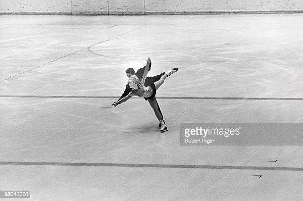 Marika Kilius and Hans Jurgen Baumler of Germany compete in Pairs figure skating at the 1964 Winter Olympics on January 29 1964 in Innsbruck Austria