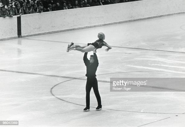 Marika Kilius and HansJuergen Baeumler of Germany compete in Pairs figure skating at the 1964 Winter Olympics on January 29 1964 in Innsbruck Austria