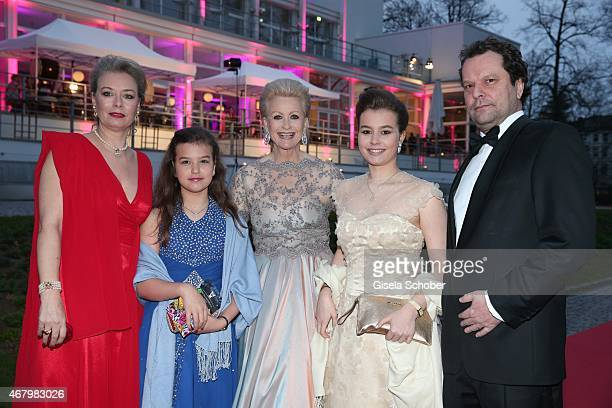 Marika Kilius and her daughter Melanie Schaefer and her grand daughters Lilly and Lola Schaefer and her son in law Stefan Schaefer during the Spring...