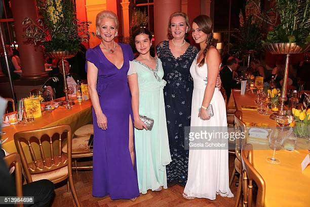 Marika Kilius and her daughter Melanie Schaefer and her grand daughters Lilly and Lola Schaefer during the Spring Ball Frankfurt 2016 on March 5 2016...