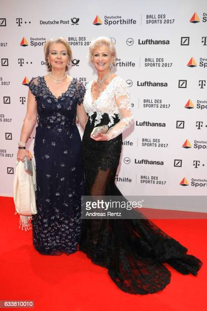 Marika Kilius and her daughter Melanie Schaefer attend the German Sports Gala 'Ball des Sports 2017' on February 4 2017 in Wiesbaden Germany