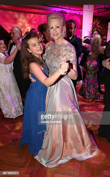 Marika Kilius and her grand daughter Lilly dancing during the Spring Ball Frankfurt 2015 at Palmengarten on March 28 2015 in Frankfurt am Main Germany