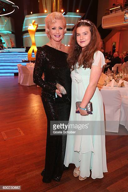 Marika Kilius and her grand daughter Lilly Schaefer during the 'Sportler des Jahres 2016' Gala at Kurhaus on December 18 2016 in BadenBaden Germany