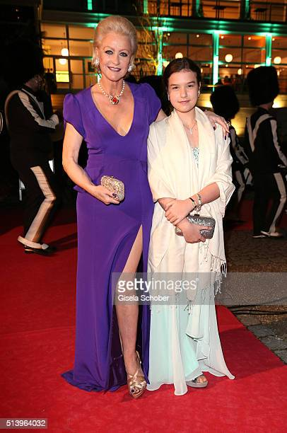 Marika Kilius and her grand daughter Lilly Schaefer during the Spring Ball Frankfurt 2016 on March 5 2016 at Palmengarten in Frankfurt am Main Germany