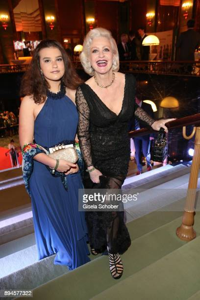 Marika Kilius and her granddaughter Lilly during the 'Sportler des Jahres 2017' Gala at Kurhaus BadenBaden on December 17 2017 in BadenBaden Germany