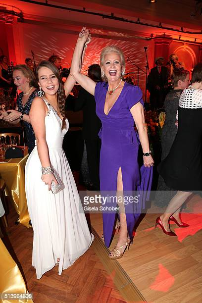 Marika Kilius dances with her grand daughter Lola Schaefer during the Spring Ball Frankfurt 2016 on March 5 2016 at Palmengarten in Frankfurt am Main...