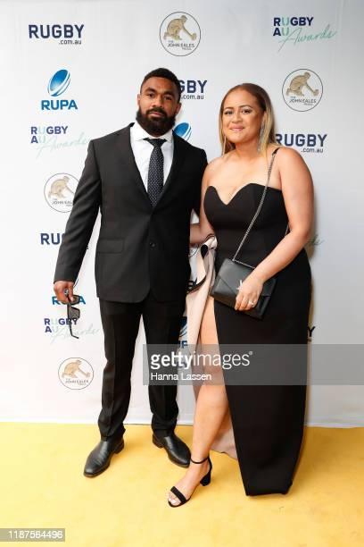 Marika Koroibete arrives ahead of the 2019 Rugby Australia Awards at the Seymour Centre on November 14 2019 in Sydney Australia