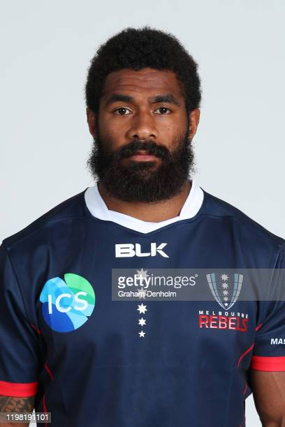 Marika Koroibete of the Rebels poses during the Melbourne Rebels 2020 Super Rugby headshots session on January 08, 2020 in Melbourne, Australia.